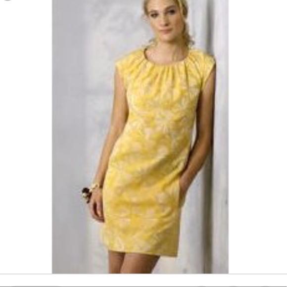 generra Dresses & Skirts - Generra dandelion clock yellow mini shiftdress